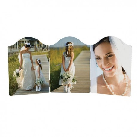 Table Top Arched Triple  Photo Panel