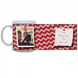 Zany Zig Zag Photo Mug