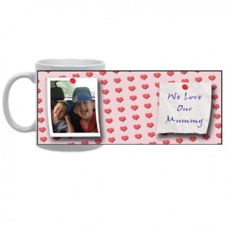 Pink Hearts Photo Mug