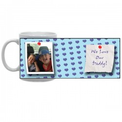 Blue Hearts Photo Mug